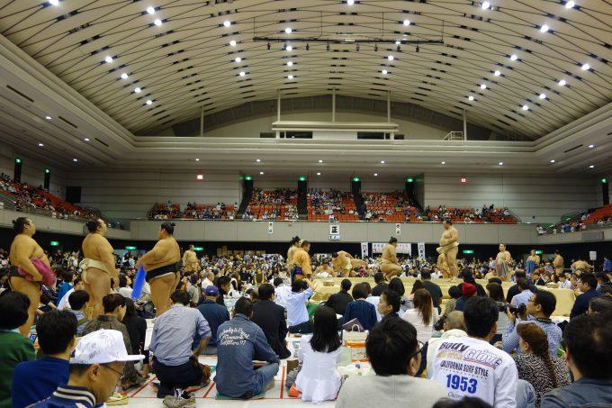 大相撲地方巡業大阪場所 公開稽古