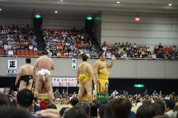 大相撲地方巡業大阪場所 相撲甚句の力士