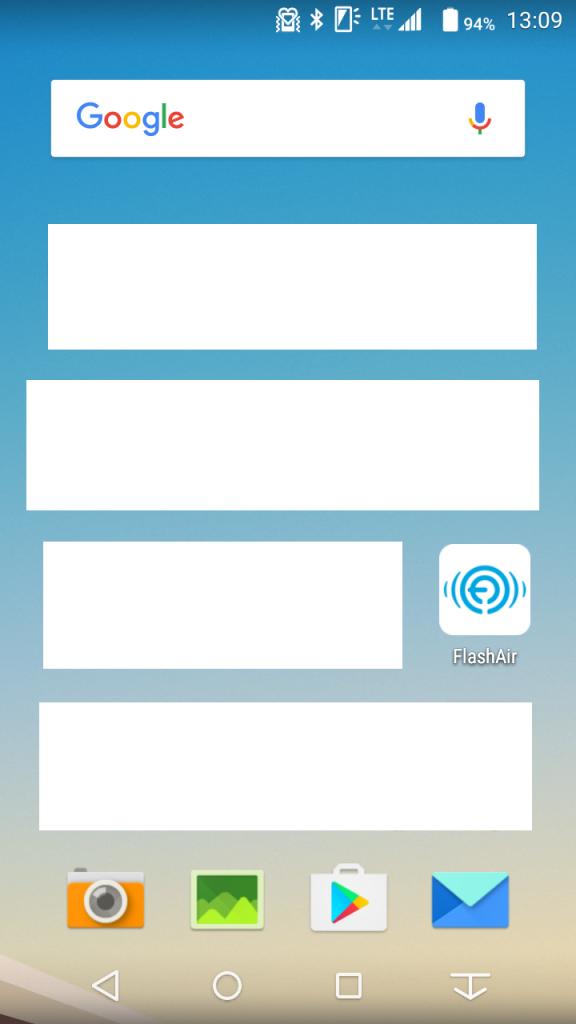 無線LAN搭載SDメモリーカード Flash Air(フラッシュエア)アプリのアイコン