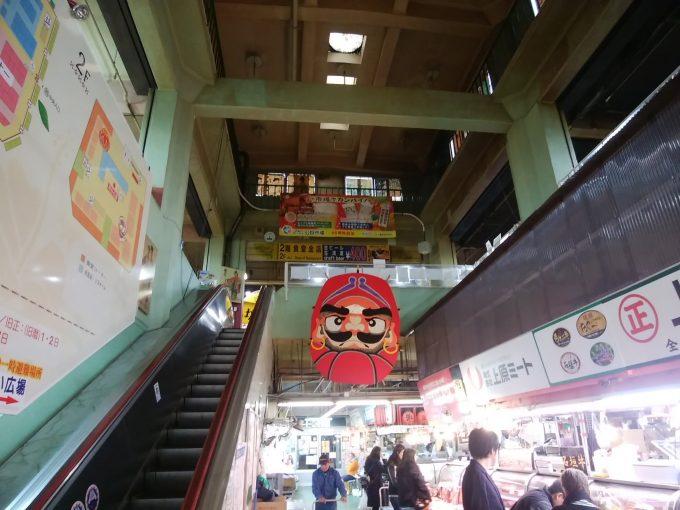 沖縄那覇 牧志公設市場のエスカレーター