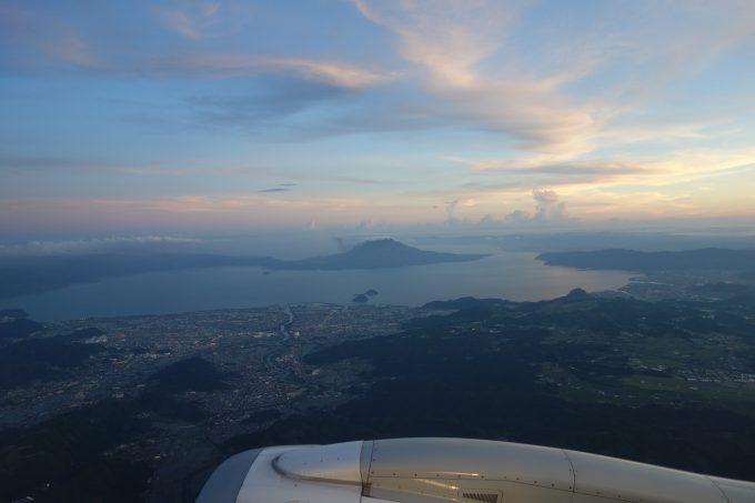 飛行機からの桜島