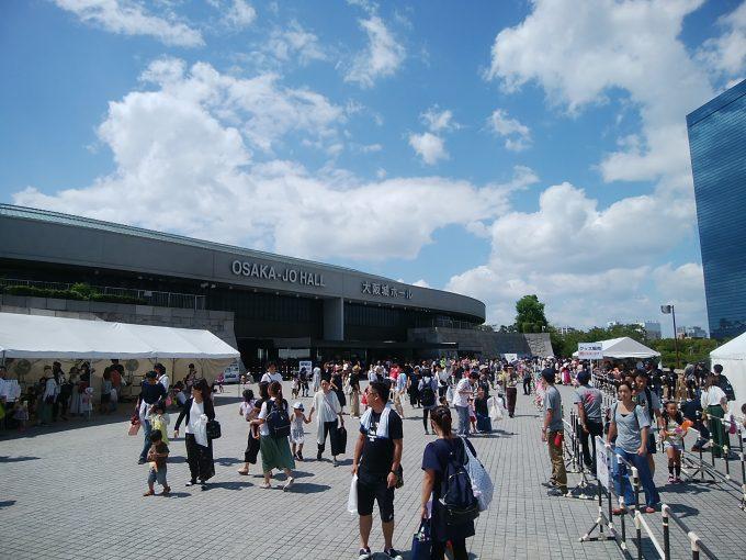 おかあさんといっしょスペシャルステージ 大阪公演会場の大阪城ホール入り口