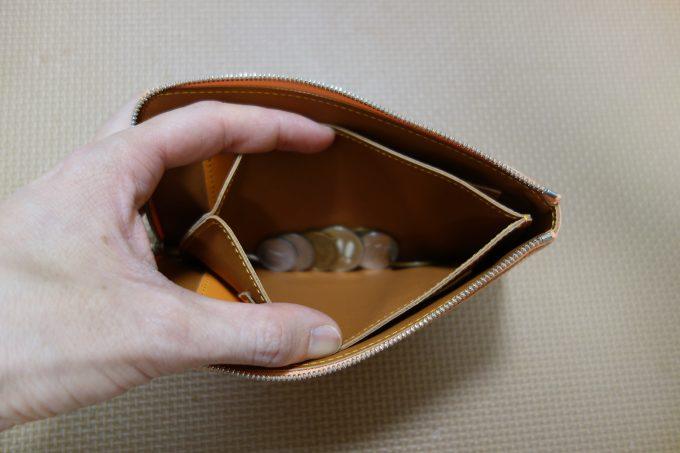 L字ファスナー薄型長財布 池之端銀革店L字ファスナーロングウォレット小銭入れ