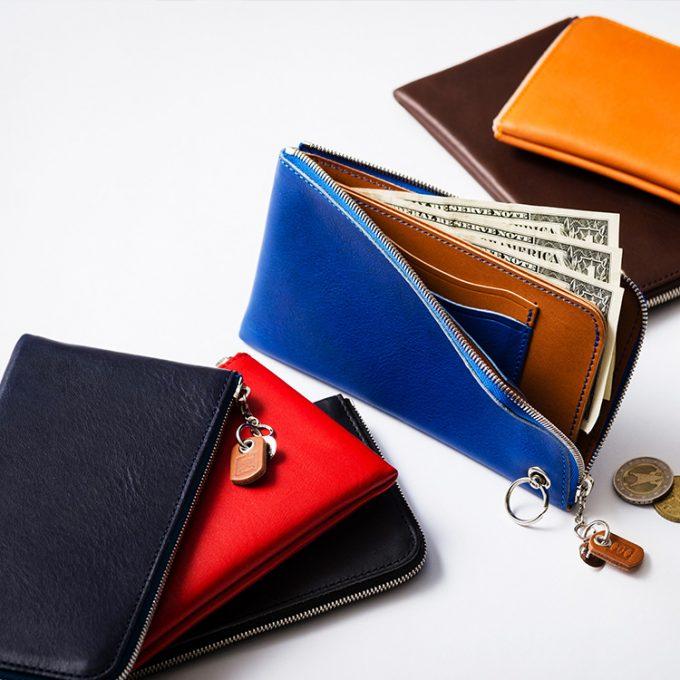 L字ファスナーの薄型長財布|【池之端銀革店】Cramp L字ファスナーロングウォレット