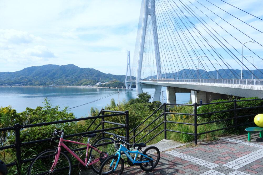 レンタサイクルで渡る多々羅大橋