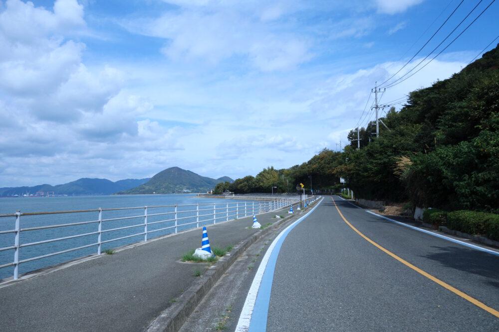 しまなみ海道生口島の道路
